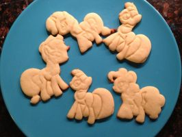 My Little Pony Cookies by WarpzonePrints