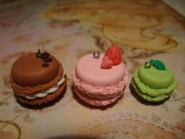 Clay macarons by Polymerchaos