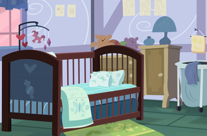 Background: Baby Cakes Bedroom by csillaghullo