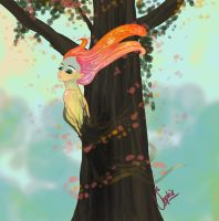 The spirit of the tree by Zoehi