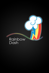 Rainbow Dash Glow Line iPod/iPhone Wallpaper by AlphaMuppet