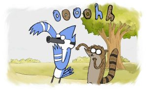 Regular Show Oooohh !! by deserterxx