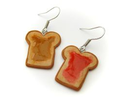 Peanutbutter and Jelly Earring by PumpkinDream