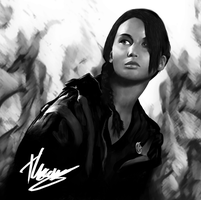 Katniss Everdeen 'The Girl On Fire' by Art-Sanity