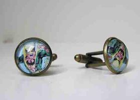 Iron fist cufflinks by kaitani81