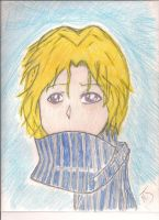Man with Scarf by 16RoseBlack