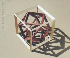 Cube with Cuboctahedron by RNDmodels