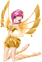 Tecna Gold enchantix by AlexaSpears1333