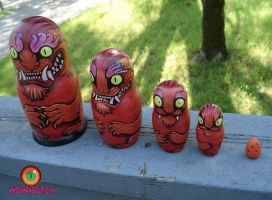 Matryoshka Russian doll demon by missmonster