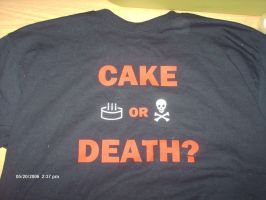 Cake Or DEATH T-shirt by ilovewheatley