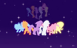 Mane 6 - Equestria Girls Wallpaper by rainbowcrash1234