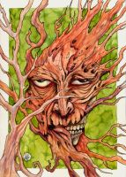 Zombie-ish Treeman on Green by zyphryus