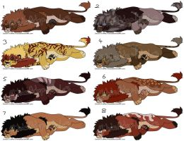 Male Lion Adoptables 2 CLOSED by MikasAdoptables