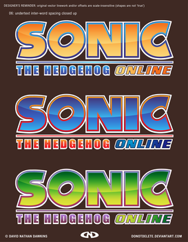 Sonic the Hedgehog Online Logo (Final Versions B) by DoNotDelete