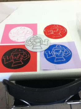 Abstract Printmaking Project: 2011 by PikachuLover2012