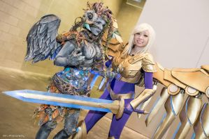 LoL: Haunted Zyra and Aether Wing Kayle by XenPhotos