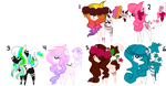 Rainbow - Pony adopts Closed by Adopt--Squad