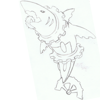 Steampunk Shark Sketch by mssingno