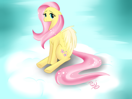Lonely Fluttershy by x-Piiu