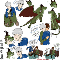 Dragon M!A Doodles by EnemyOfSanity