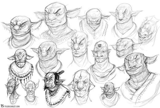 Goblin Sketches by TylerScarlet