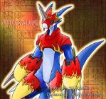 Flamedramon Oekaki by zephyron