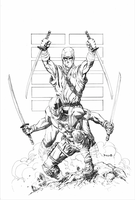 G.I.JOE. SNAKE EYES AND STORMSHADOW. by danielpicciotto