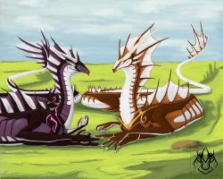 Naldeir and Hydra by AshasCadence