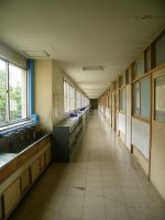 Japanese School Hallway by JeanneABeck