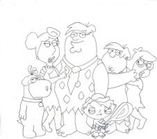 Family guy + Flintstones by your-resident-angel