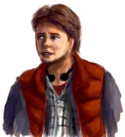 Back tothe Future Marty Doodle by justira