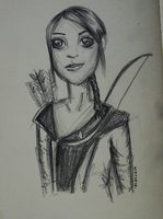 Hunger Games: Katniss Sketch by DrownedFairy