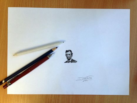 Mini Pencil Drawing of Abraham Lincoln by AtomiccircuS