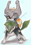 RQ- Midna and Wolf Link by ColeyCannoli
