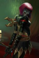 Orianna League of Draven! by armice