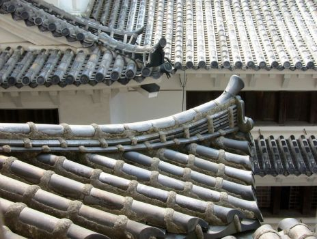 Curve of a Japanese roof by kimyoonmi