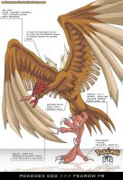 Pokedex 022 - Fearow FR by Pokemon-FR