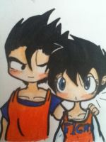 GOHAN x VIDEL by cookie62667