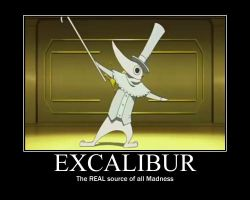 Excalibur motivational poster by Iorigaara