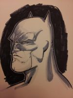 Batman head sketch with copic by Sajad126