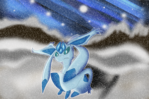 Icy Glaceon Night by Shadow-Pikachu6