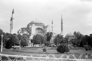 Turkey Istanbul Saint Sophie Basilica 1970s by BlackWhitePictures