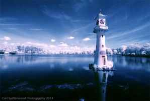 Infrared Roath Park by Rovanite