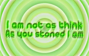I am not as think as you stoned I am by ShiLo33