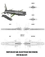 Minmatar battlecruiser OURAGAN by lokzed