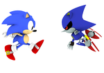 Classic and Metal Sonics by Mike9711