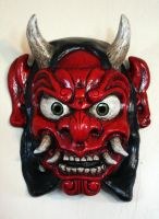 Oni Mask in Red by Faust-and-Company