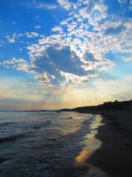 Beach Sunset 02 by Michies-Photographyy