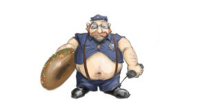 Skin Concept : Officer Gragas by ILIKEHUGSS