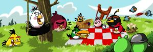 When the Angry Birds have their picnic.... by animated-shark